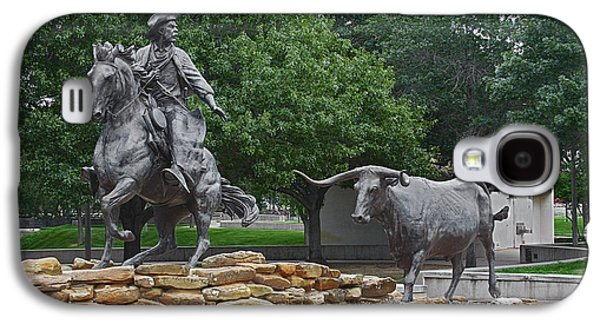 Cattle Drive Photographs Galaxy S4 Cases - Waco - Branding the Brazos Galaxy S4 Case by Christine Till