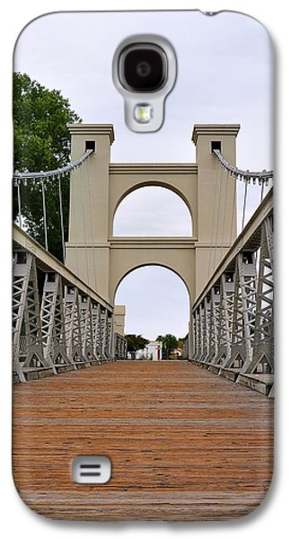 Cattle Drive Photographs Galaxy S4 Cases - Waco Suspension Bridge Galaxy S4 Case by Christine Till