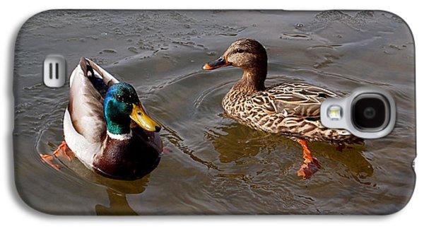 Beautiful Galaxy S4 Cases - Wading Ducks Galaxy S4 Case by Rona Black