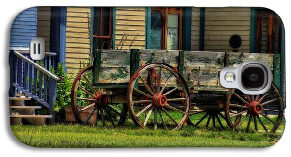 Wooden Wagons Galaxy S4 Cases - Wagon In The Old West Galaxy S4 Case by Dan Sproul
