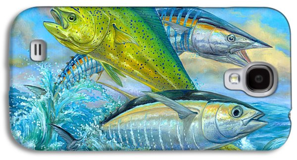 Wahoo Galaxy S4 Cases - Wahoo Mahi Mahi And Tuna Galaxy S4 Case by Terry  Fox