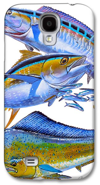 Wahoo Galaxy S4 Cases - Wahoo Tuna Dolphin Galaxy S4 Case by Carey Chen