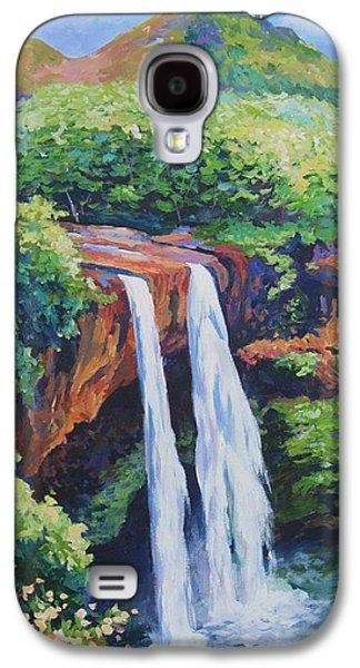 Waterfalls Paintings Galaxy S4 Cases - Wailua Falls Galaxy S4 Case by John Clark