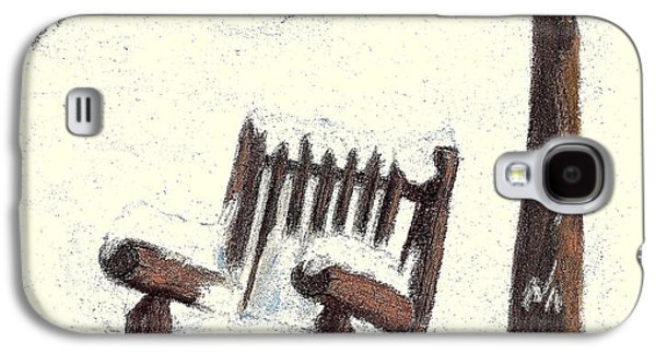 Chair Pastels Galaxy S4 Cases - Waiting for Summer Galaxy S4 Case by Jay Johnston