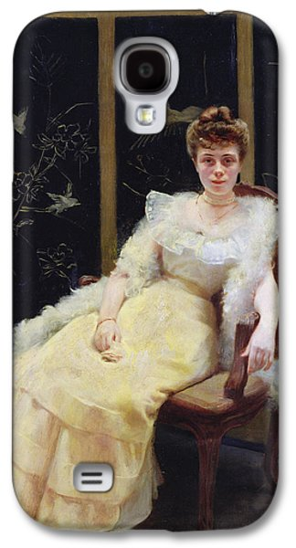 Ball Gown Photographs Galaxy S4 Cases - Waiting, 1901 Oil On Canvas Galaxy S4 Case by Ernst Philippe Zacharie