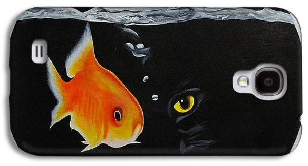 Golden Fish Paintings Galaxy S4 Cases - Waiting 4 a chance Galaxy S4 Case by Pravas Chandra