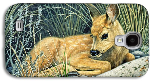 Waiting For Mom-mule Deer Fawn Galaxy S4 Case by Paul Krapf