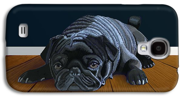 Puppies Digital Art Galaxy S4 Cases - Waiting for Playtime Galaxy S4 Case by Jacqueline Barden