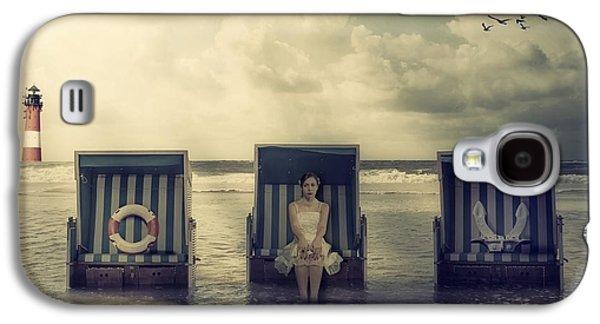 Beach Chair Galaxy S4 Cases - Waiting For The Flood Galaxy S4 Case by Joana Kruse