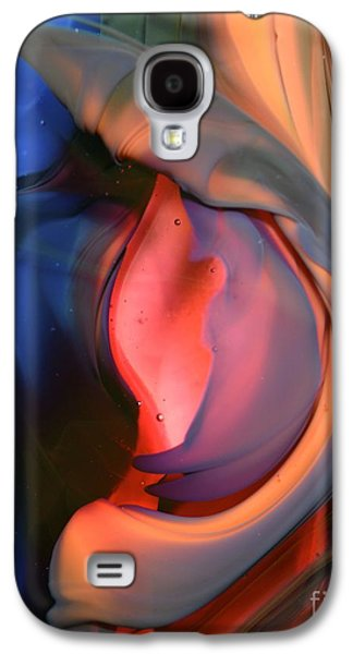 Abstract Forms Glass Art Galaxy S4 Cases - Waiting to Unfurl Galaxy S4 Case by Kimberly Lyon