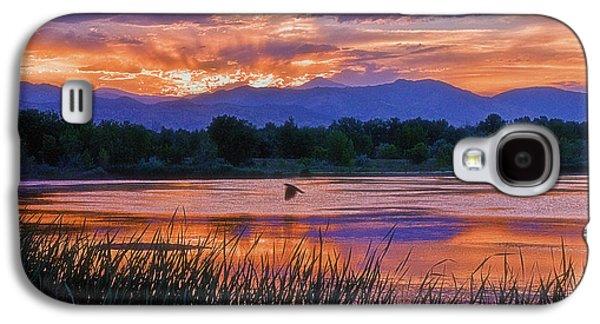 Walden Pond Galaxy S4 Cases - Walden Ponds Sunset Galaxy S4 Case by Brian Kerls