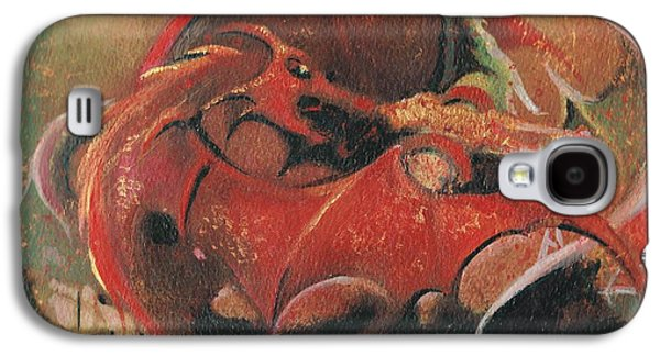 Rugby Paintings Galaxy S4 Cases - Wales vs England  Galaxy S4 Case by Jessica Davies