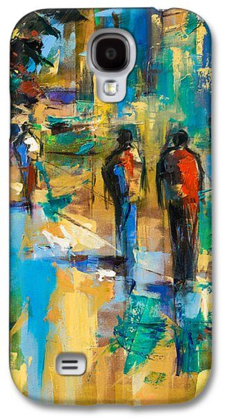 Urban Street Galaxy S4 Cases - Walk in the City Galaxy S4 Case by Elise Palmigiani