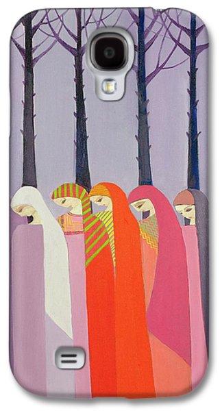 Shawl Galaxy S4 Cases - Walk In The Park, 1989 Acrylic On Canvas Galaxy S4 Case by Laila Shawa