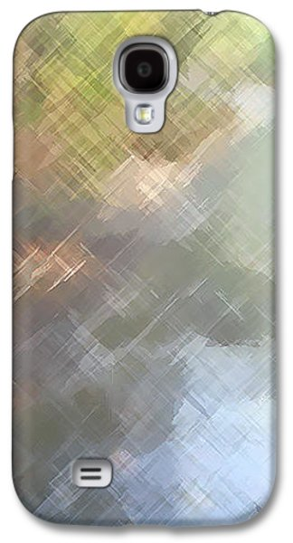 Modern Abstract Galaxy S4 Cases - Walk In The Park Galaxy S4 Case by Charlie Cliques