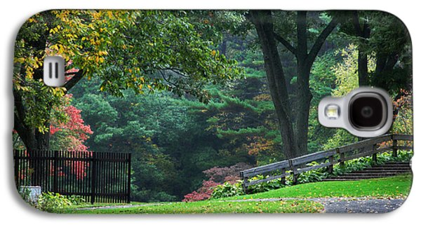 Autumn In The Country Galaxy S4 Cases - Walk in the Park Galaxy S4 Case by Christina Rollo