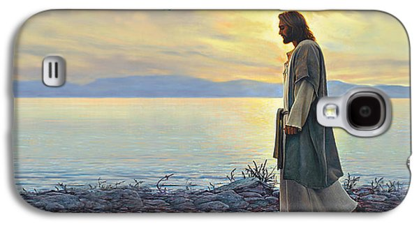 Jesus Paintings Galaxy S4 Cases - Walk With Me Galaxy S4 Case by Greg Olsen