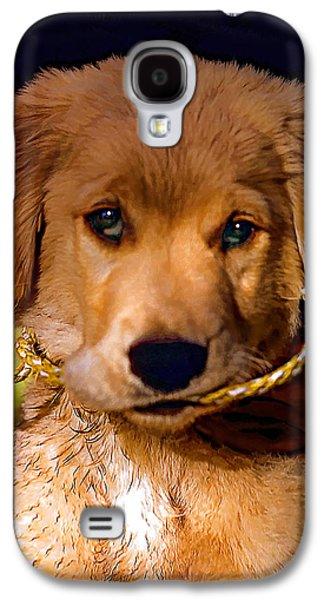 Puppy Digital Art Galaxy S4 Cases - Walkies...Pleeease Galaxy S4 Case by Steve Harrington