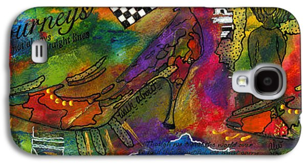 African-american Galaxy S4 Cases - Walking About Galaxy S4 Case by Angela L Walker