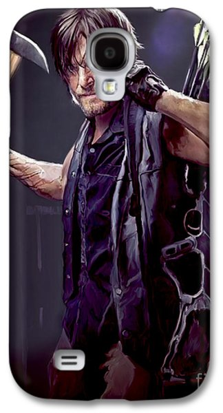 Digital Galaxy S4 Cases - Walking Dead - Daryl Dixon Galaxy S4 Case by Paul Tagliamonte