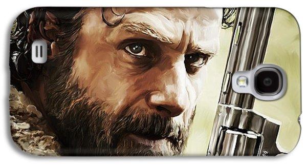 Nostalgia Digital Art Galaxy S4 Cases - Walking Dead - Rick Galaxy S4 Case by Paul Tagliamonte