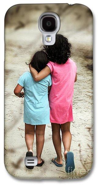 Family Walks Galaxy S4 Cases - Walking Girls Galaxy S4 Case by Carlos Caetano