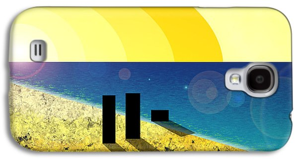 Dog Walking Digital Galaxy S4 Cases - Walking into the sunset Galaxy S4 Case by Gee Lyon