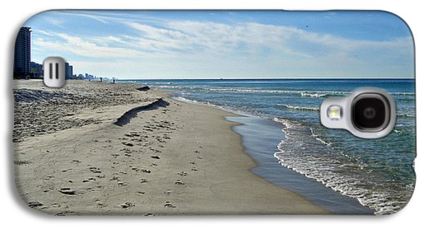 Panama City Beach Galaxy S4 Cases - Walking the Beach Galaxy S4 Case by Sandy Keeton