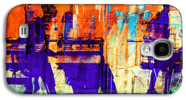 Abstract Digital Pyrography Galaxy S4 Cases - Walking through the city Galaxy S4 Case by Gabi  Hampe