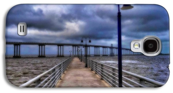 Tempest Galaxy S4 Cases - Walkway And Bridge On Gulf Of Mexico Galaxy S4 Case by Dan Sproul