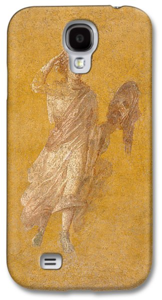 Ancient Galaxy S4 Cases - Wall Fragment Of A Muse, 1-75 Ad Plaster And Pigment Galaxy S4 Case by Roman