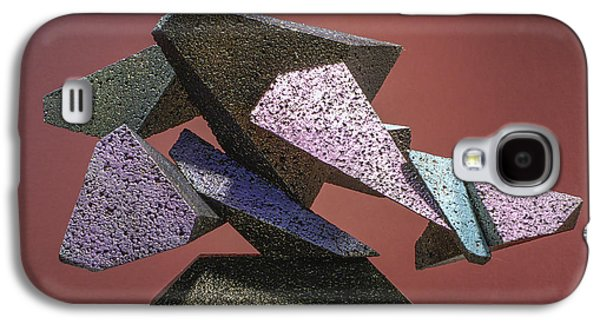 Colorful Abstract Sculptures Galaxy S4 Cases - Wall Street Debacle Galaxy S4 Case by Richard Arfsten
