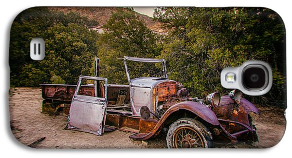 Old Trucks Photographs Galaxy S4 Cases - Wall Street Mine Pickup Galaxy S4 Case by Peter Tellone