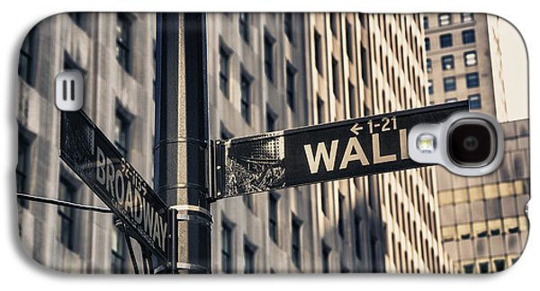 Wall Street Sign Galaxy S4 Case by Garry Gay