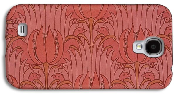 Floral Tapestries - Textiles Galaxy S4 Cases - Wallpaper Design Galaxy S4 Case by Victorian Voysey