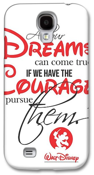 Mouse Digital Art Galaxy S4 Cases - Walt Disney quote typography Galaxy S4 Case by Lab No 4 - The Quotography Department
