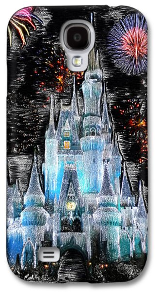 Walt Disney World Frosty Holiday Castle Galaxy S4 Case by Thomas Woolworth