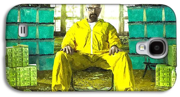 Series Photographs Galaxy S4 Cases - Walter White as Heisenberg Painting Galaxy S4 Case by Gianfranco Weiss