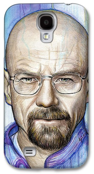 Celebrities Mixed Media Galaxy S4 Cases - Walter White - Breaking Bad Galaxy S4 Case by Olga Shvartsur