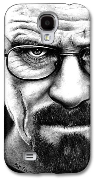 White Drawings Galaxy S4 Cases - Walter White Breaking Bad Galaxy S4 Case by Rick Fortson