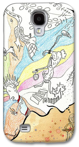 Colored Pencil Abstract Drawings Galaxy S4 Cases - Wander Galaxy S4 Case by Jeff Barrett