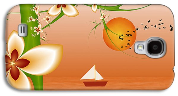 Abstract Digital Art Galaxy S4 Cases - Wanderlust 2 Galaxy S4 Case by Gabiw Art