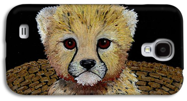 Cheetah Drawings Galaxy S4 Cases - Want to play  Galaxy S4 Case by Jane Pietrofitta