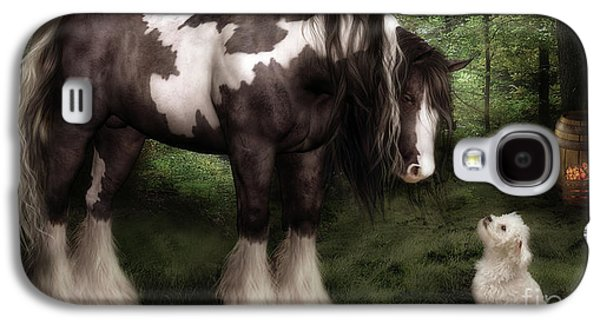 Horse Digital Galaxy S4 Cases - Want to Play Galaxy S4 Case by Shanina Conway