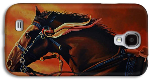 Peter Paintings Galaxy S4 Cases - War Horse Joey  Galaxy S4 Case by Paul  Meijering