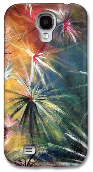 Abstract Tapestries - Textiles Galaxy S4 Cases - War of the Seasons Galaxy S4 Case by Susanne Little