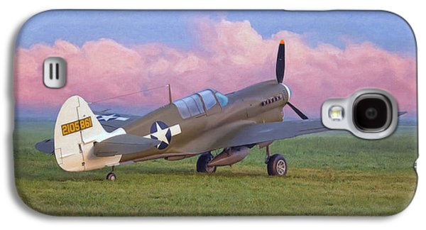 P-40 Galaxy S4 Cases - Warhawk in the Morning Galaxy S4 Case by Dale Jackson