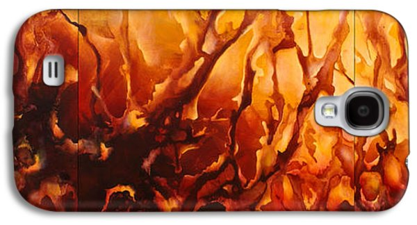 Abstract Movement Galaxy S4 Cases - Warm Design Galaxy S4 Case by Michael Lang