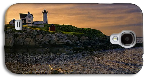 Landscapes Photographs Galaxy S4 Cases - Warm Nubble Dawn Galaxy S4 Case by Joan Carroll