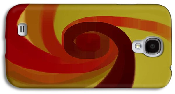 Ben Gertsberg Digital Art Galaxy S4 Cases - Warm Swirl Galaxy S4 Case by Ben and Raisa Gertsberg